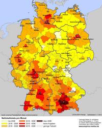 mietspiegel deutschland karte empirica newsletter 2/2016 | empirica